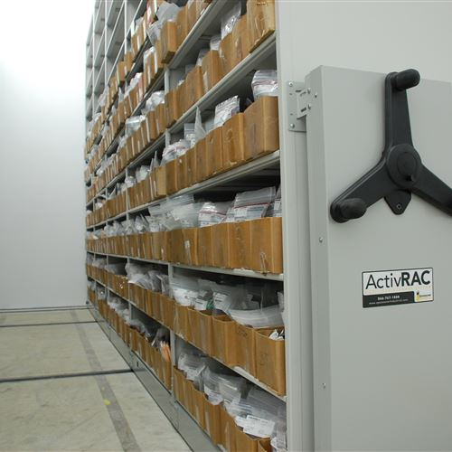 Seed Sample Storage on ActivRAC 7M Mobile Shelving System