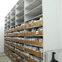 Seed Samples stored on 4-post Shelving in Climate Controlled Room