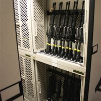 Rifle Storage on Weapons Racks on Compact Shelving at MacDill AFB