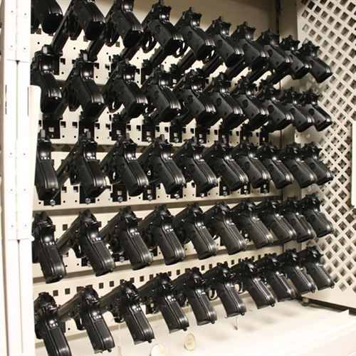 Compact Pistol Storage in a Weapons Rack at MacDill AFB