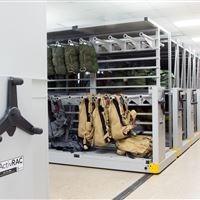 Parachute Storage on Mobile Racking System at Air Force Base