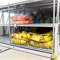 Life Raft Storage on Mobile Racking