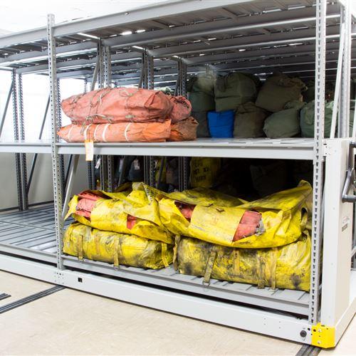 Life Raft Storage on Mobile Racking