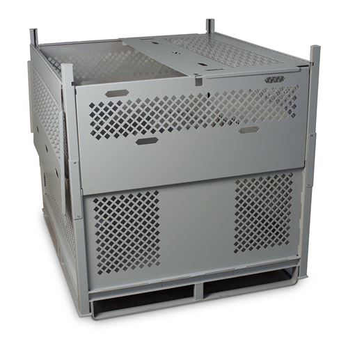 Storage Room Ventilation : Parachute storage with perforated panels for durability