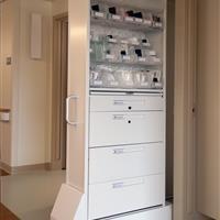 CoreSTOR Nurse Server with Lockable Drawers