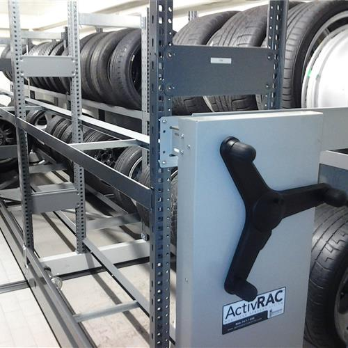 Tire storage solution in auto dealership Vancouver British Columbia