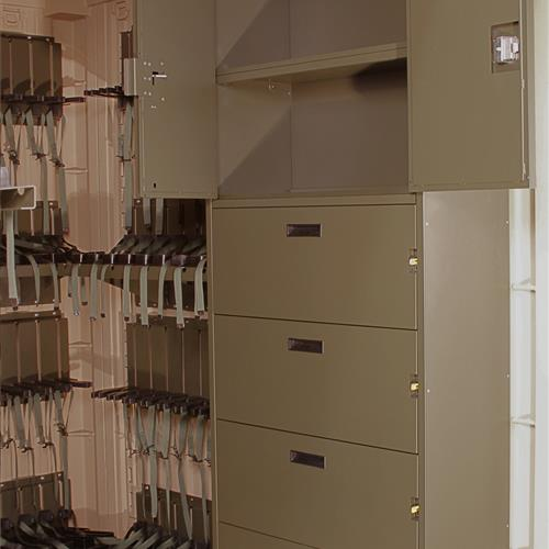 Open Cabinet space of the Universal Expeditionary Weapons Storage System (UWESS)