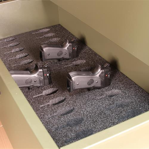 Pistol Storage in Universal Expeditionary Weapons Storage System (UWESS)