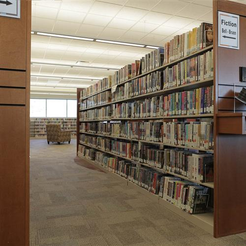 Cantilever Bookshelves at Uintah County Public Library