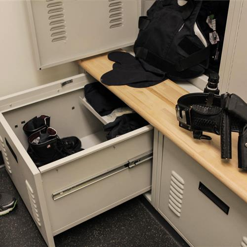 Parker Police Department Equipment Lockers
