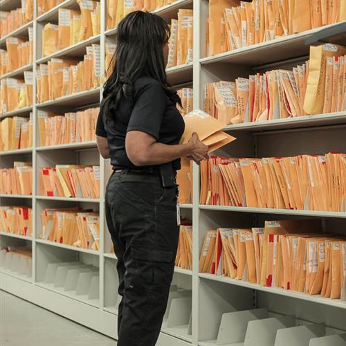 Parker Police Department Evidence Storage