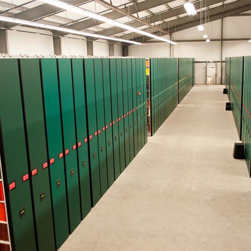 Mobile Shelving for University Library Storage