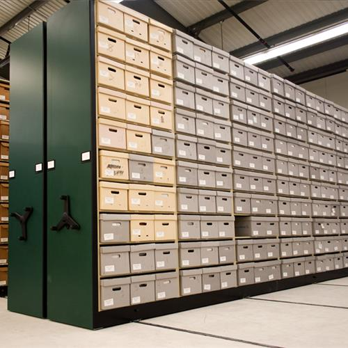 High Density Shelving for Boxed Archival Storage