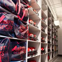 Football Helmet and Gear Bag Storage