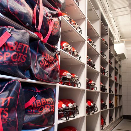 Football Helmet and Gear Bag Storage