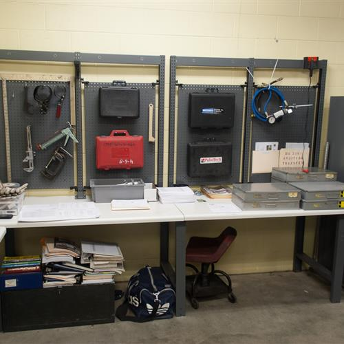 Maintenance Supply Storage and Work Area