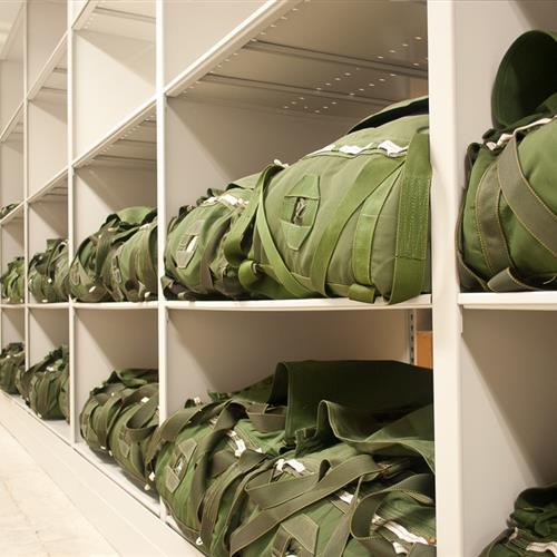 Parachute Storage Shelving