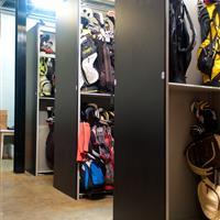 Golf Bag Storage Shelving