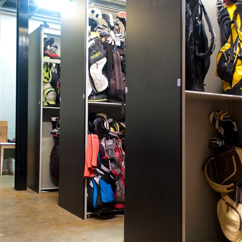 Golf Bag Storage Shelving