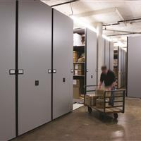 Bulk evidence storage on Mobile shelving system