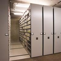Evidence kits stored on mobile shelving
