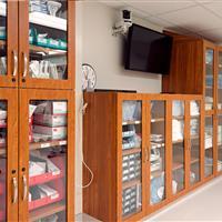 Modular Casework for Medical Supply Storage