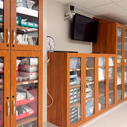 Modular Casework for Medical Supply Storage