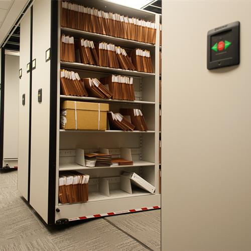 Powered Mobile Records Storage Shelving