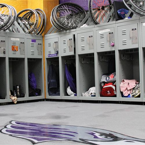 UW Whitewater Wheelchair Basketball Freestyle Lockers