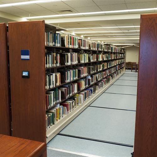 Salve Regina University's McKillop Library Mobile Storage with LCD control