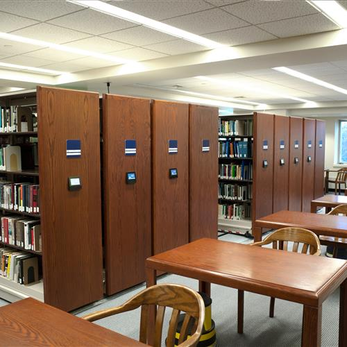 Salve Regina University McKillop Library Touch Technology Control Powered Mobile Storage