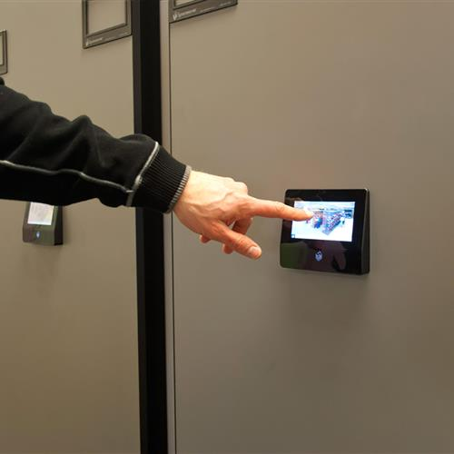 LCD Touchscreen Controls Secure Records Storage at a Large Natural Gas Company