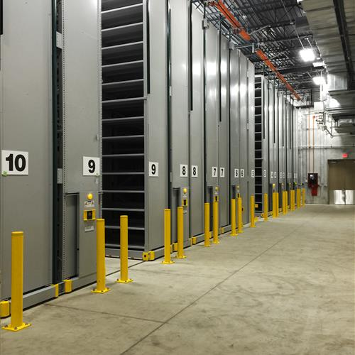 High bay archival storage system at the university of for Storage bay