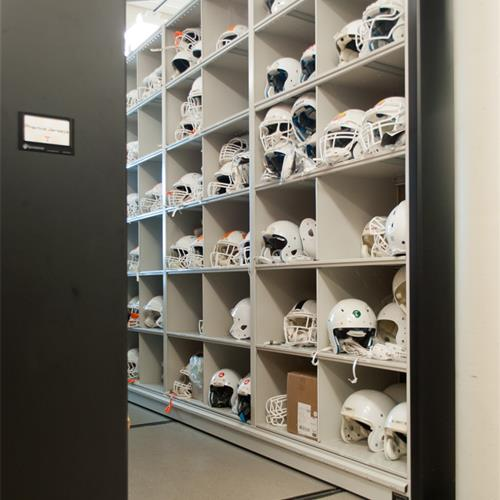 UT Football Helmet Storage