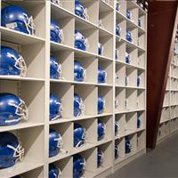 Football Helmet Storage Shelving