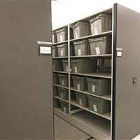 Inmate Property Storage on Powered High-Density Mobile Shelving at Wake County Detention Center, North Carolina