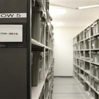 Inmate Property Storage on Powered Moveable Shelving at Wake County Detention Center, North Carolina