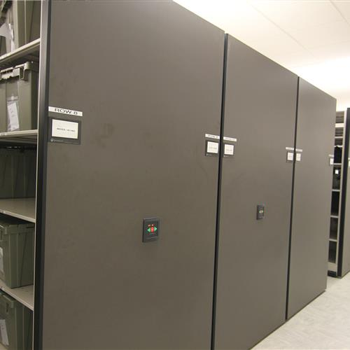 Powered High-Density Mobile Shelving with Inmate Property Storage Wake County Detention Center, North Carolina
