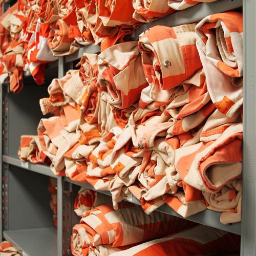 Inmate Clothing at Wake County Detention Center, North Carolina