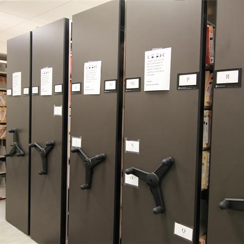 File Storage on Mobile Shelving at Wake County Detention Center, North Carolina