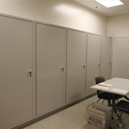 Pass-Thru Secure Evidence Lockers (Evidence Room View) at Wake County Detention Center, North Carolina
