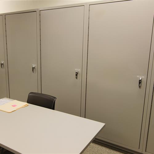 Evidence Lockers from the Evidence Room at Wake County Detention Center, North Carolina