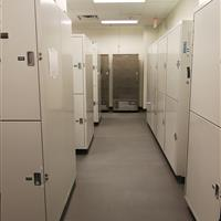 Secure Gear Lockers at Wake County Detention Center, North Carolina