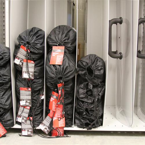 Riot Gear Shelving at Wake County Detention Center, North Carolina