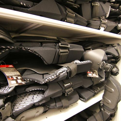Correctional Officer Safety Equipment Storage at Wake County Detention Center, North Carolina