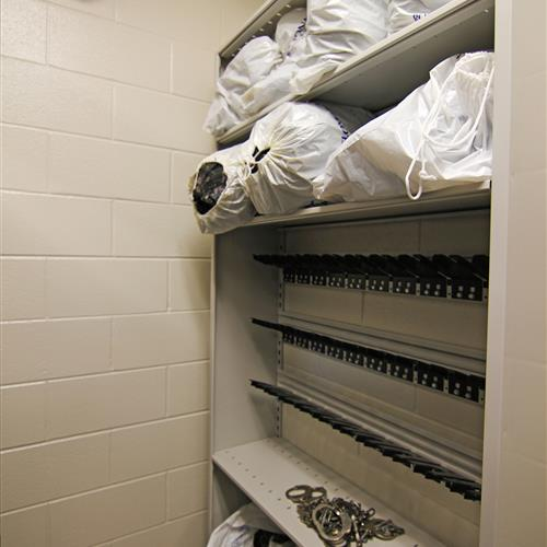 Floor-Mounted Gun and Evidence Storage at Wake County Detention Center, North Carolina