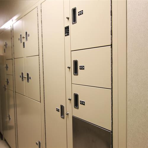 Pass-Thru Evidence Lockers at Wake County Public Safety Building, North Carolina