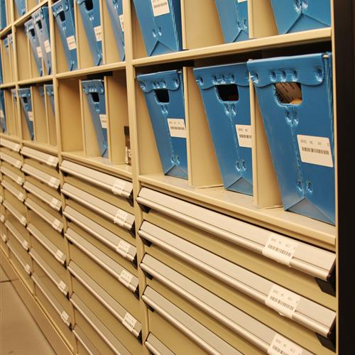 High-Density Mobile Evidence Shelving at Wake County Public Safety Building, North Carolina