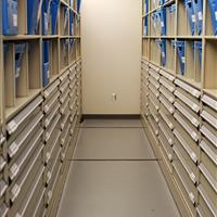 High-Density Moveable Shelving and Drawers at Wake County Public Safety Building, North Carolina