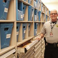 Organized, Compact Drawer and Shelves at Wake County Public Safety Building, North Carolina
